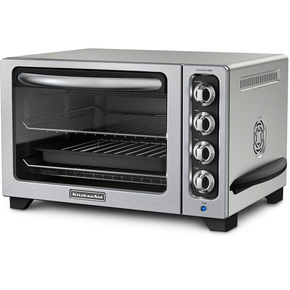 KitchenAid 12 in. Countertop Convection Oven in Contour Silver