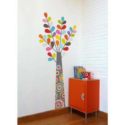 """(27 in x 65 in) Multi-Color """"Colourful Tree"""" Kids Wall Decal"""