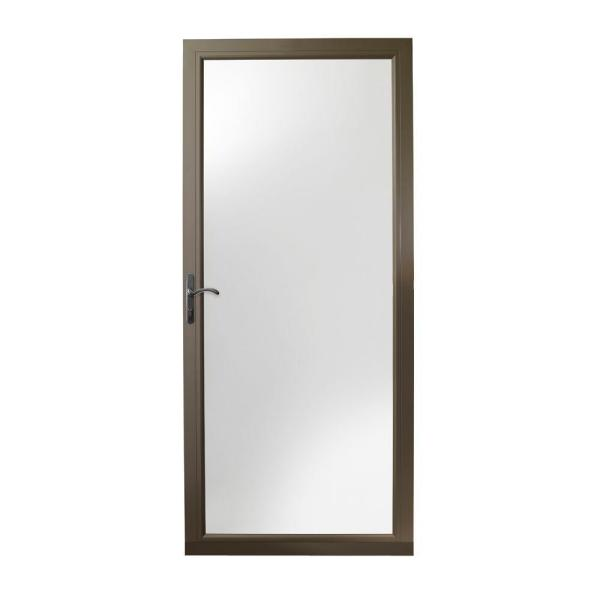 36 in. x 80 in. 3000 Series Terratone Left-Hand Fullview Easy Install Storm Door with Oil-Rubbed Bronze Hardware
