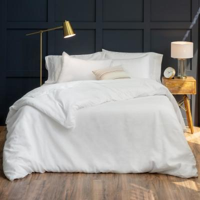 The Relaxed Linen Cotton White King Duvet Cover Set
