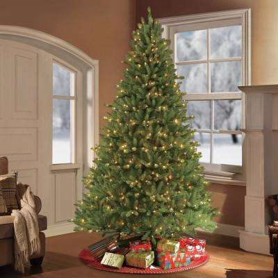 10 ft.Pre-Lit Fraser Fir Artificial Christmas Tree with 1300 Clear Lights