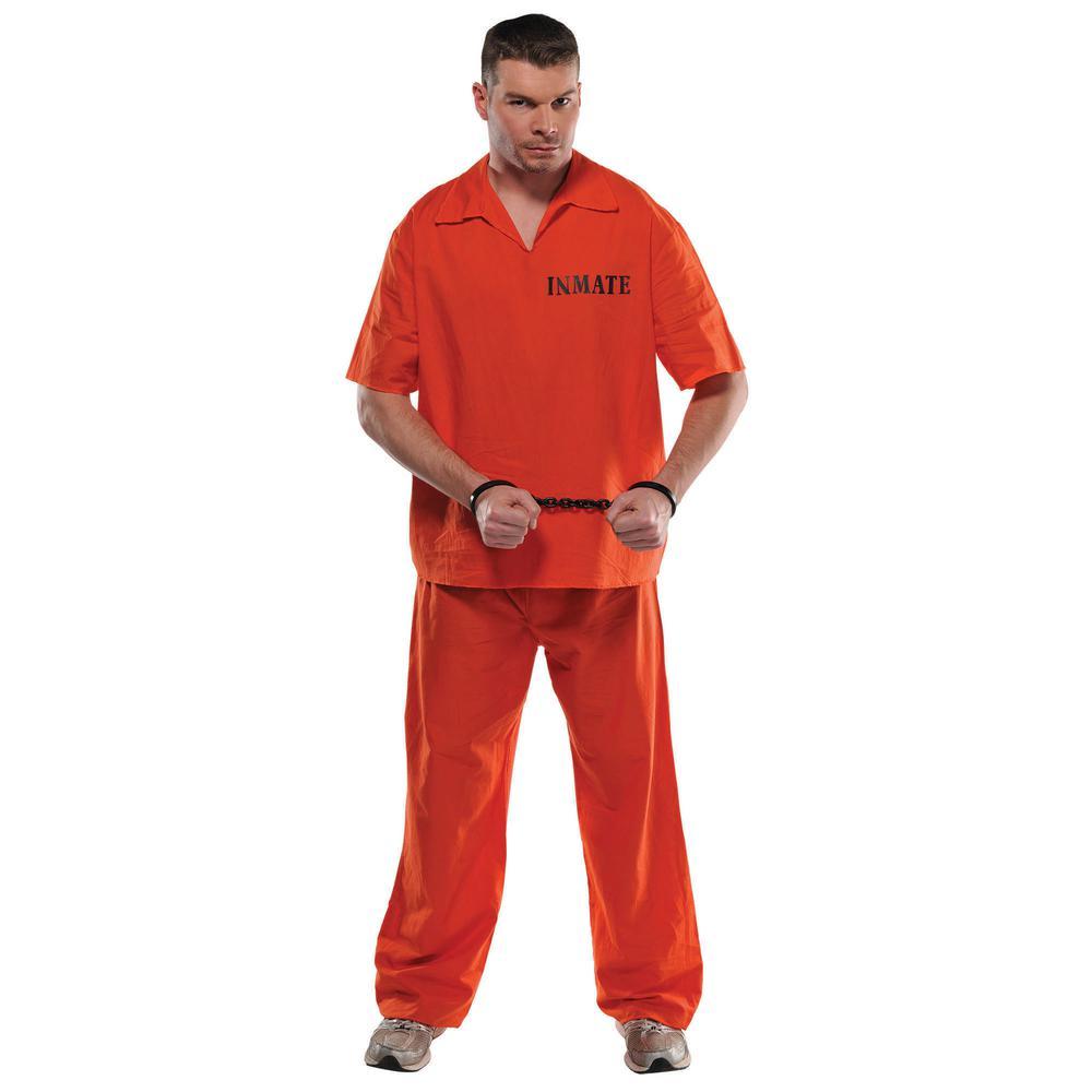 amscan mens prisoner halloween costume standard-840233 - the home depot