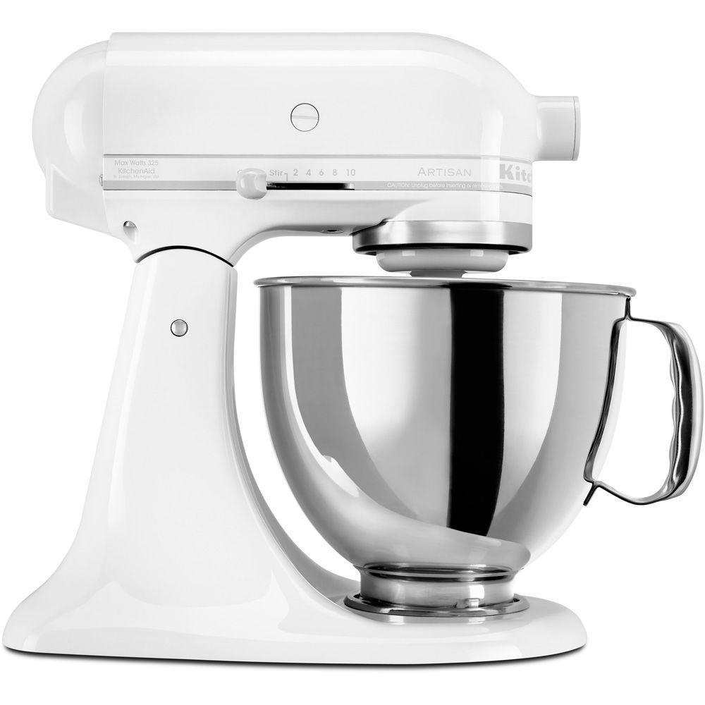 KitchenAid Artisan 5 Qt. White on White Stand Mixer