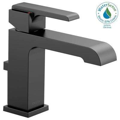 Ara Single Hole Single-Handle Bathroom Faucet with Metal Pop-Up and Channel Spout in Matte Black