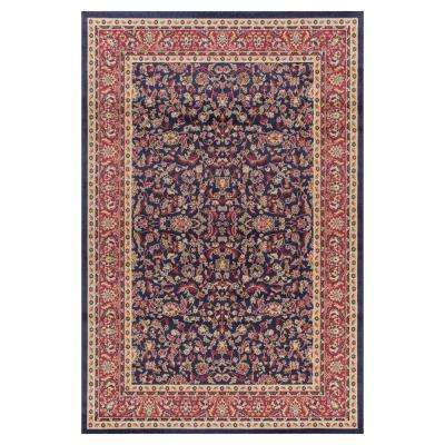 Jewel Kashan Navy 2 ft. 7 in. x 4 ft. Accent Rug
