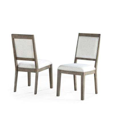 Molly Upholstered Linen Side Chair  (Set of 2)