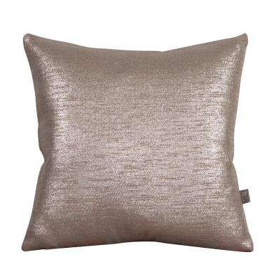 Glam Gray Pewter 16 in. x 16 in. Decorative Pillows