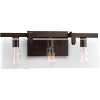 Glayse Collection 3-Light Antique Bronze Bath Light