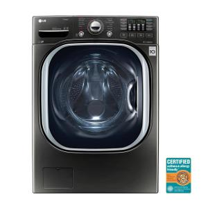 LG Electronics 4 5 cu  ft  High-Efficiency Front Load Washer with Steam and  TurboWash in Black Stainless Steel, ENERGY STAR