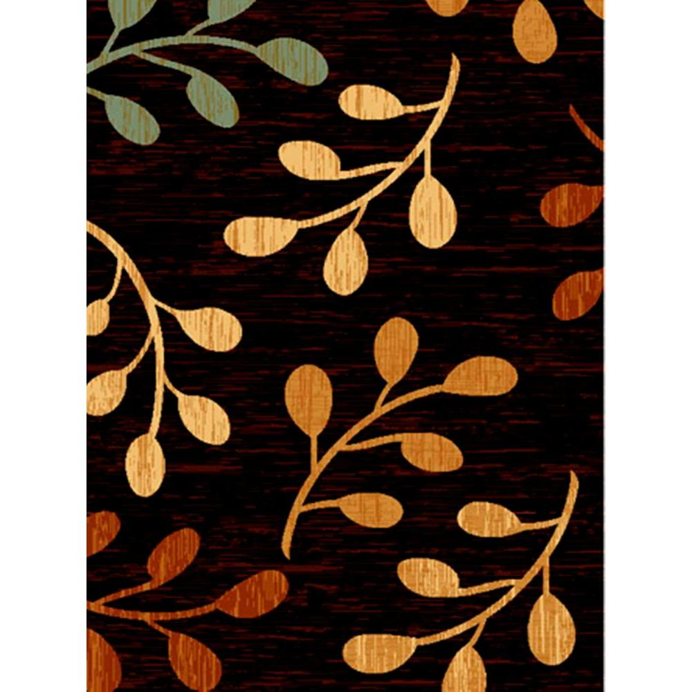 United Weavers Sutra Black 5 ft. 3 in. x 7 ft. 2 in. Area Rug