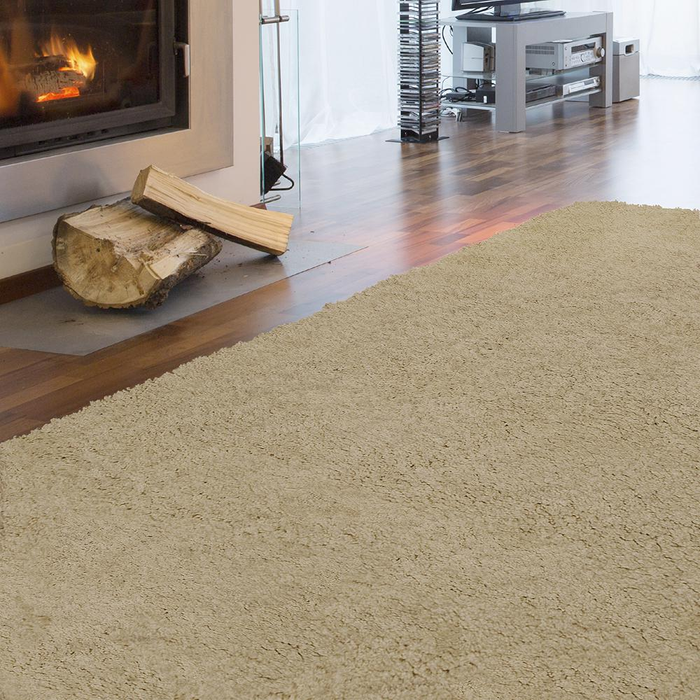 Arctic Shag Sand 2 ft. 6 in. x 8 ft. Area