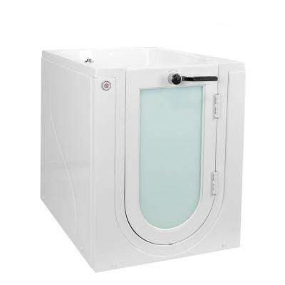 Front Entry 32 in. Acrylic Walk-In Micro Bubble Air Bathtub in White w/ RH Outward Swing Door, Heated Seat, 2 in. Drain