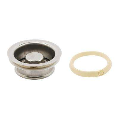 Garbage Disposal Flange with Stopper 3-1/2 in. Chrome with Putty