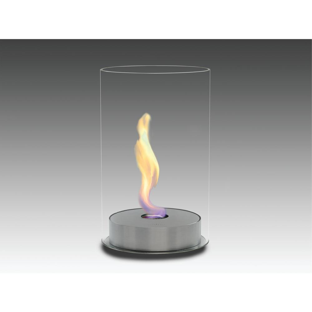 Romeo 10 in. Ethanol Free Standing Fireplace in Stainless Steel