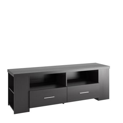 Bromley 60 in. Ravenwood Black TV Stand with 2 Drawer Fits TVs Up to 70 in. with Cable Management