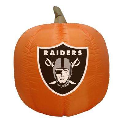 4 ft. Oakland Raiders Inflatable Pumpkin