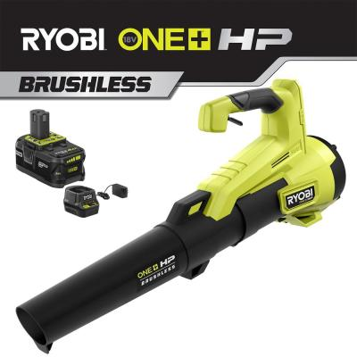 110 MPH 350 CFM 18-Volt ONE+ Brushless HP Lithium-Ion Cordless Jet-Fan Leaf Blower, 4 Ah Battery and Charger