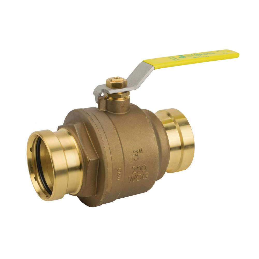 Banjo Electric 3 Way Directional Ball Valve: Jomar Valve 3 In. Lead Free Brass Press XLC Connection