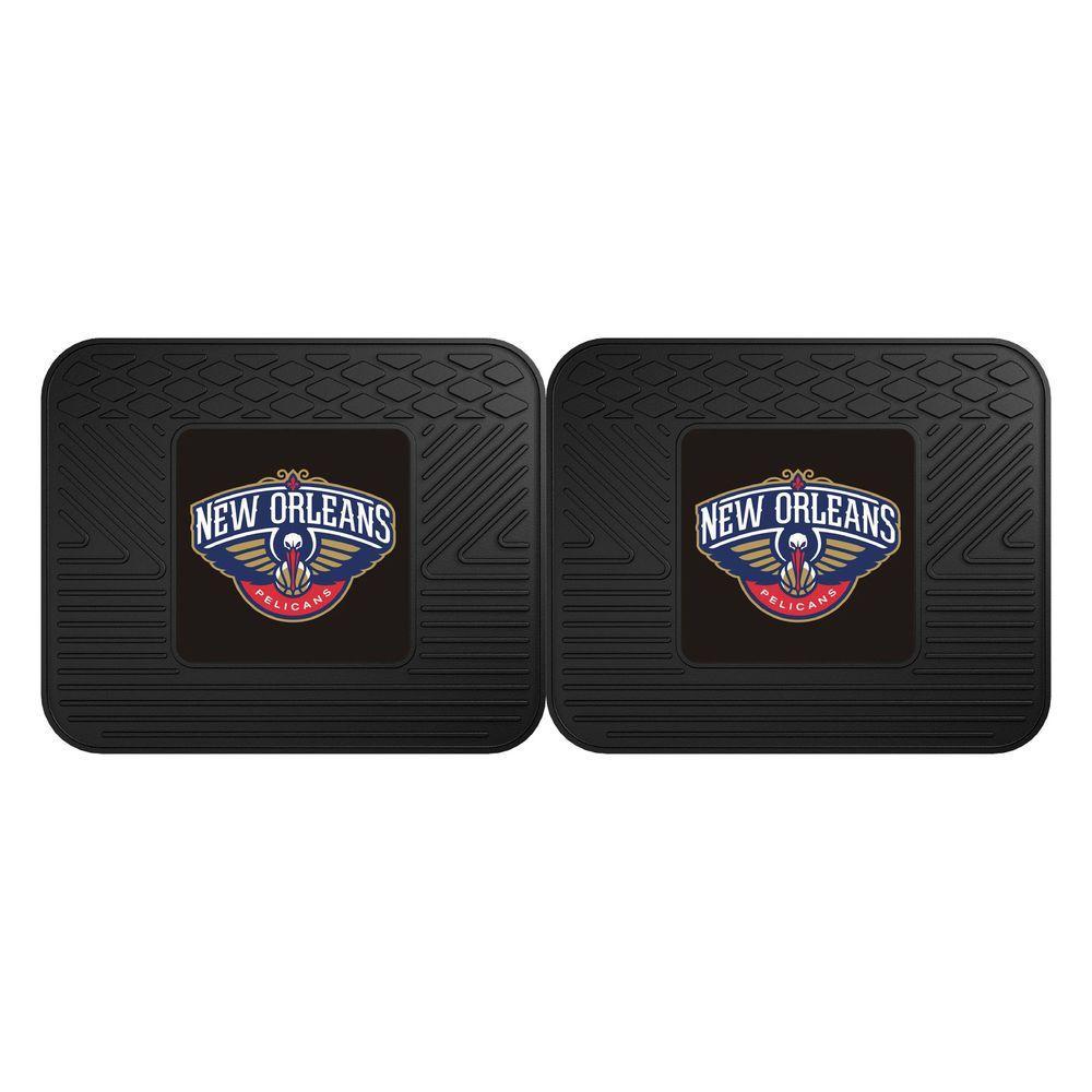 NBA New Orleans Pelicans Black Heavy Duty 2-Piece 14 in. x 17 in. Vinyl Utility Mat