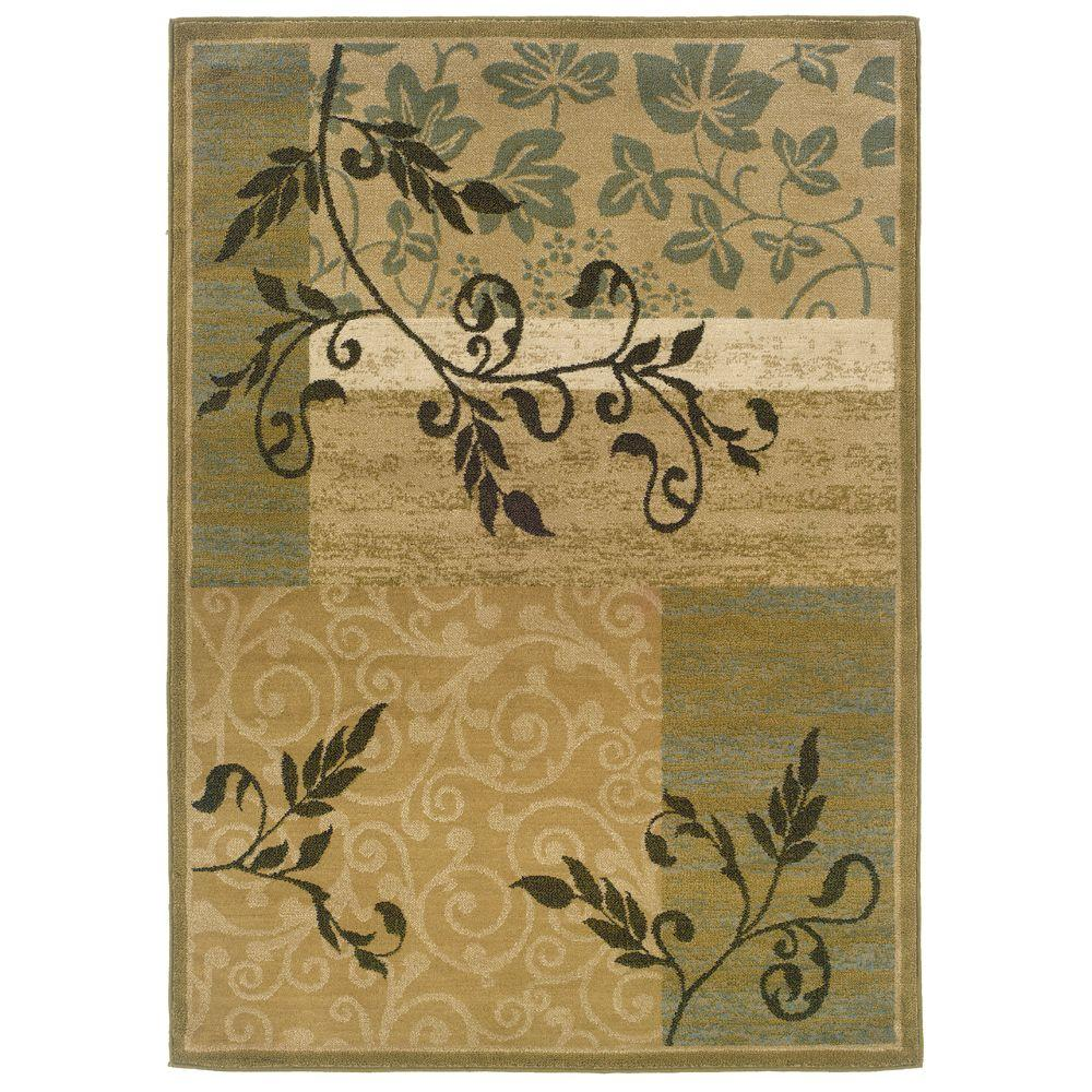Oriental Weavers Evanston Desire Gold 3 Ft X 5 Area Rug