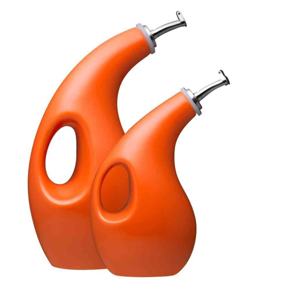 Orange Oil & Vinegar Dispensing Bottle Set