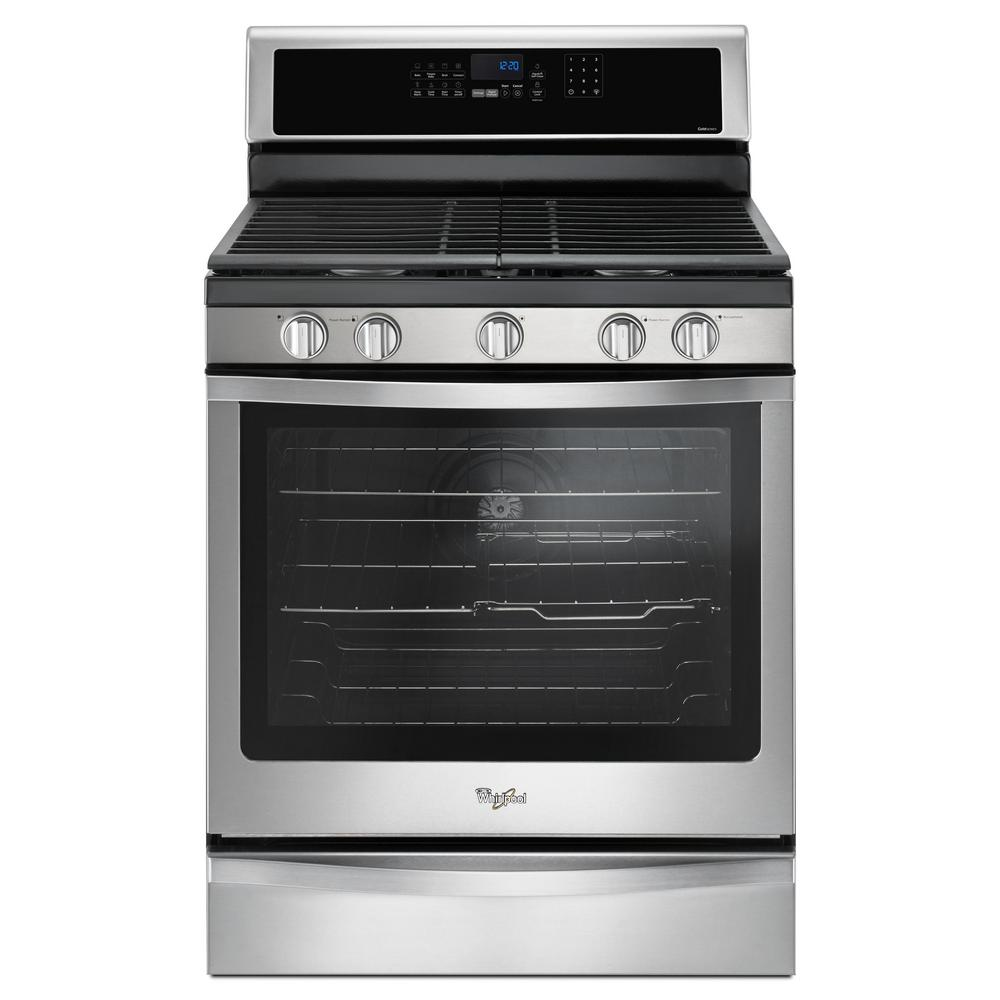 whirlpool electric range whirlpool 5 8 cu ft freestanding gas range with center 10064