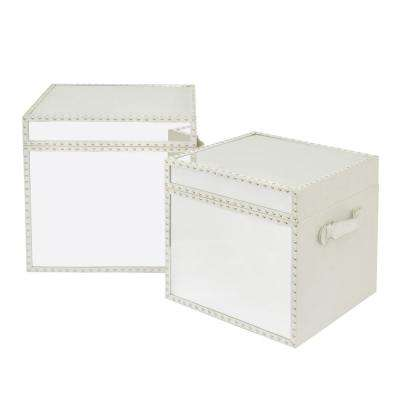 Mirrored Wood Trunk (Set of 2)