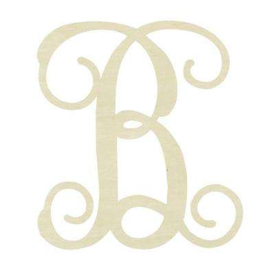 19.5 in. Unfinished Single Vine Monogram (B)