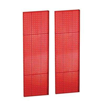 44 in. H x 13.5 in. W Red Styrene Pegboard with One Sided Panel (2-Pieces per Box)