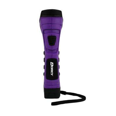 CyberLight Weather Resistant LED Flashlight with Nylon Lanyard and True Spot Reflector, Purple