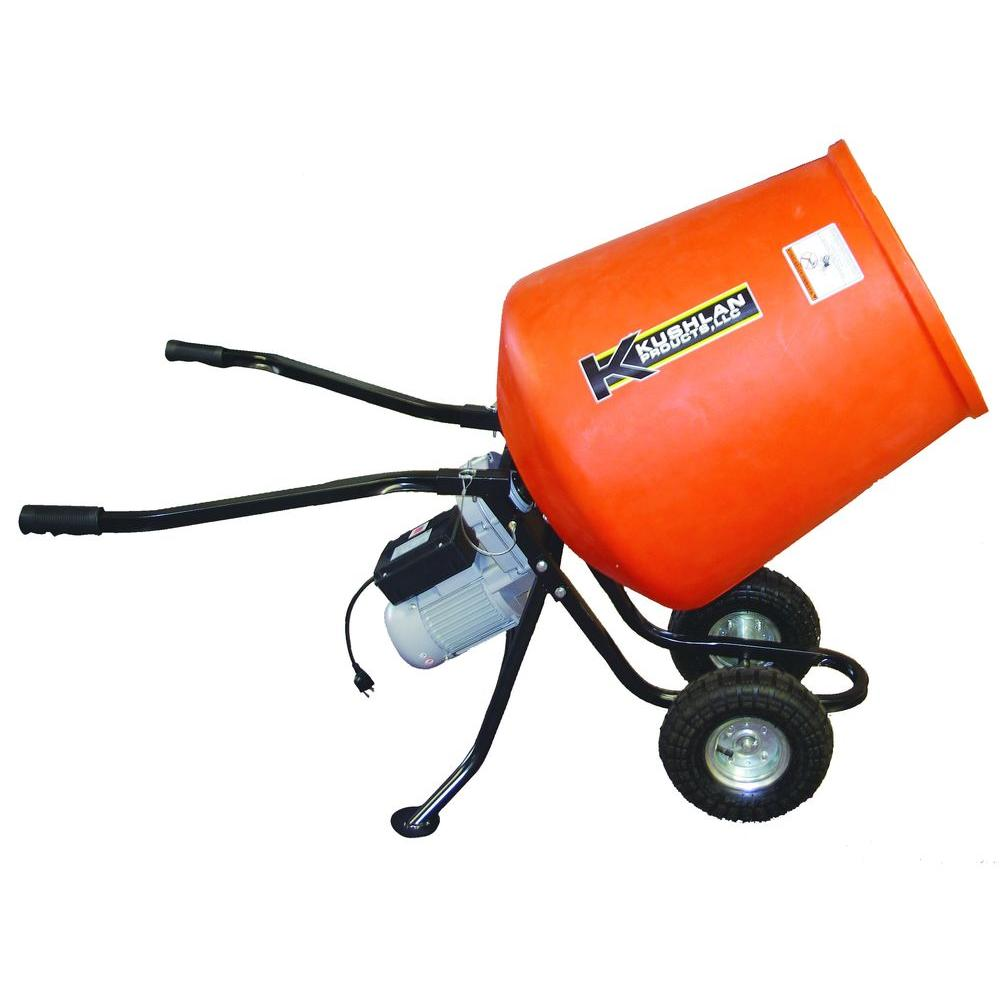 Electric Cement Mixer Home Depot ~ Kushlan cu ft hp volt motor direct drive low