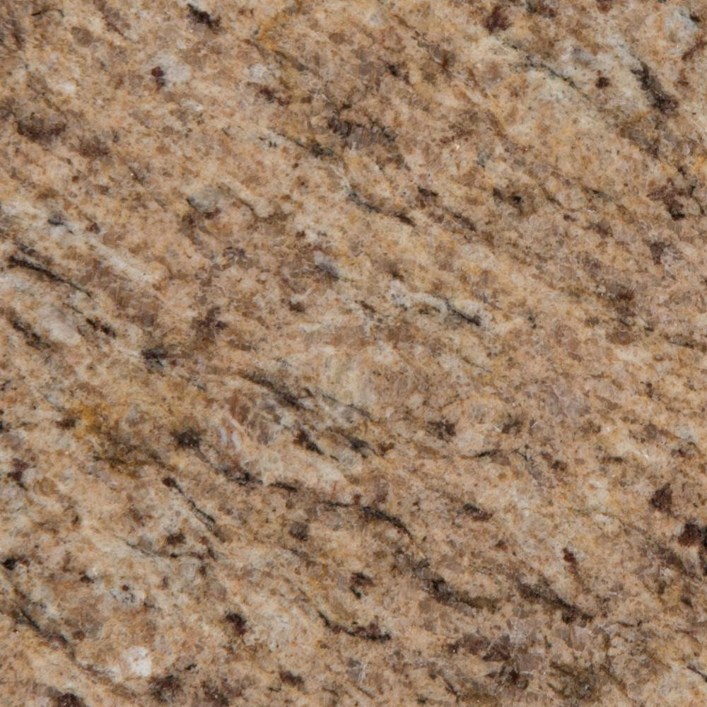 3 in. x 3 in. Granite Countertop Sample in Amarello Ornamental