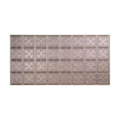Traditional 10 - 2 ft. x 4 ft. Glue-up Ceiling Tile in Galvanized Steel