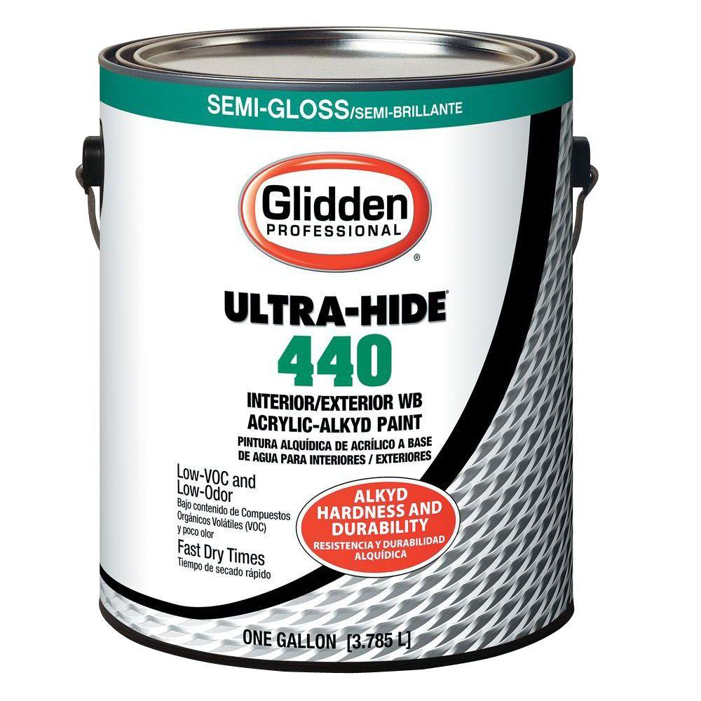 Glidden Professional 1 gal. Ultra-Hide 440 Semi-Gloss Oil/Alkyd Interior/Exterior Paint