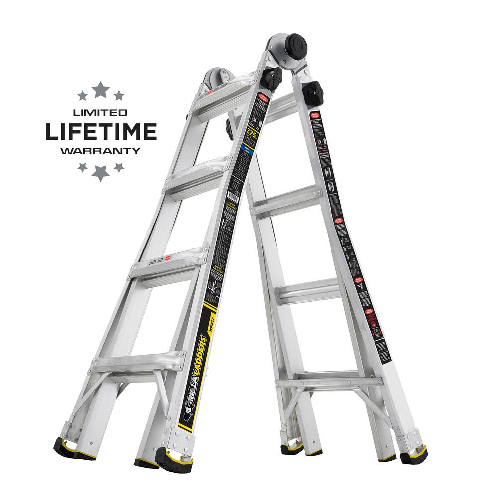 18 ft. Reach MPX Aluminum Multi-Position Ladder with 375 lb. Load