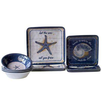 Calm Seas 12-Piece Dinnerware Set