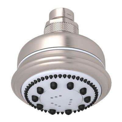 Bossini 3-Spray 3.5 in. Fixed Showerhead in Satin Nickel