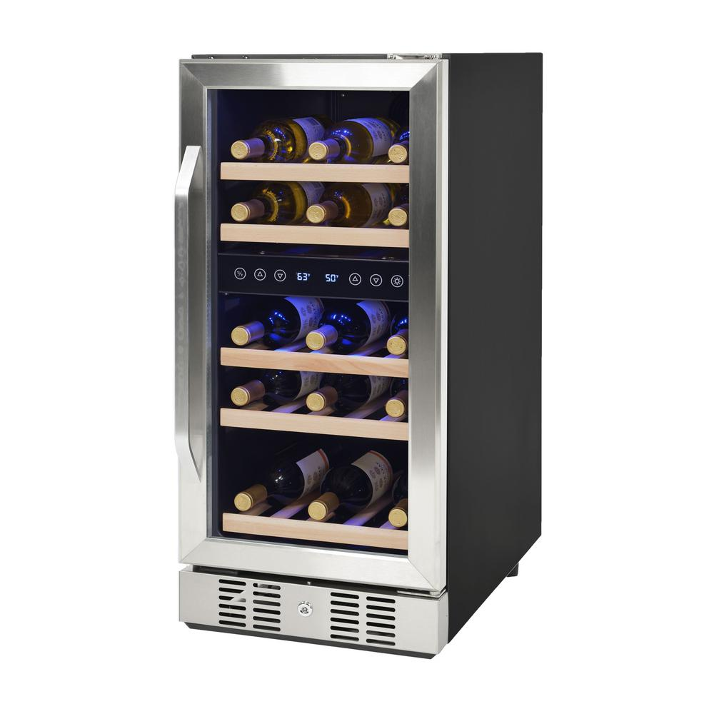 Newair 29 Bottle Built In Wine Cooler Awr 290db The Home Depot