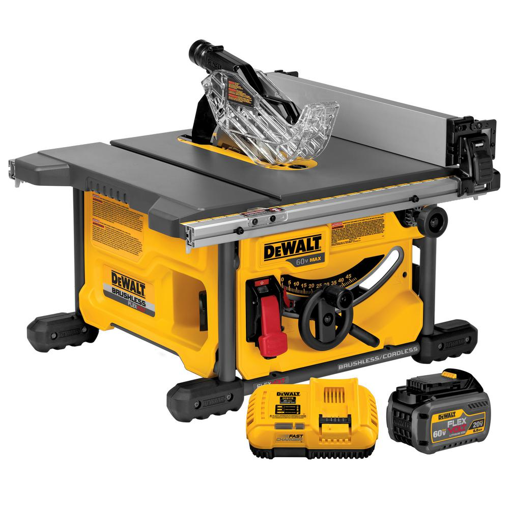 FLEXVOLT 60-Volt MAX Lithium-Ion Cordless Brushless 8-1/4 in. Table Saw Kit