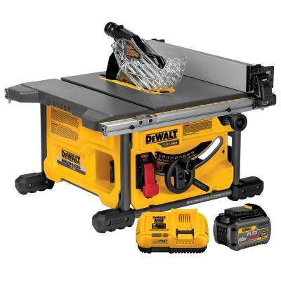 FLEXVOLT 60-Volt MAX Lithium-Ion Cordless Brushless 8-1/4 in. Table Saw