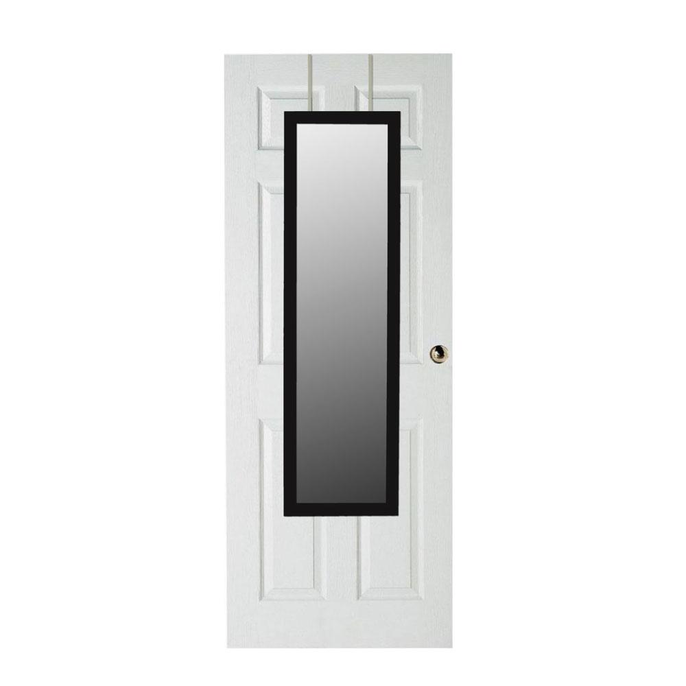 over the door mirror HOME basics Black Over the Door Mirror DM47009   The Home Depot over the door mirror