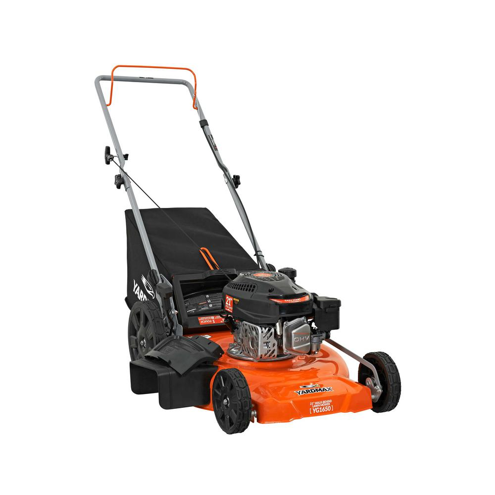 YARDMAX 21 inch 170cc OHV Walk Behind Gas Push Mower 3-in-1 Mulch, Side Discharge, and Rear Bag