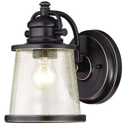 Emma Jane Amber Bronze with Highlights Outdoor Wall Lantern