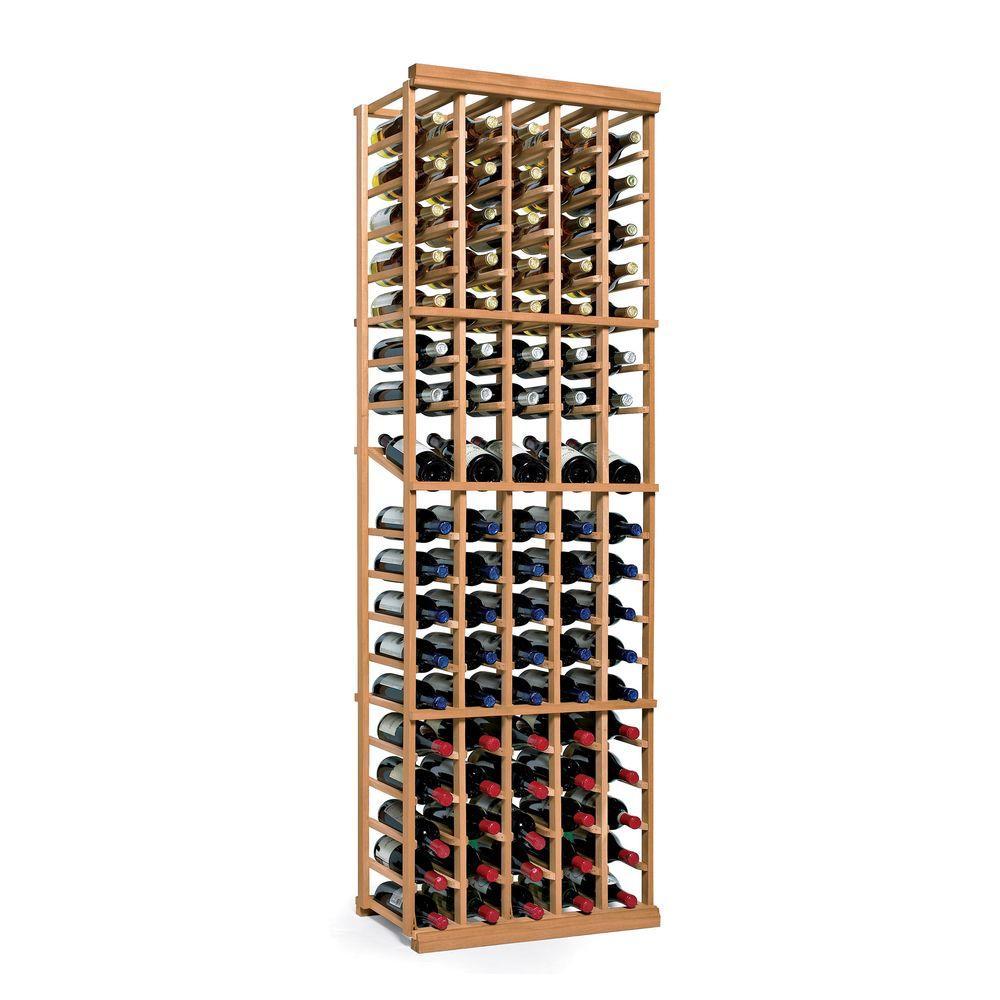 N'Finity 90-Bottle Natural Floor Wine Rack