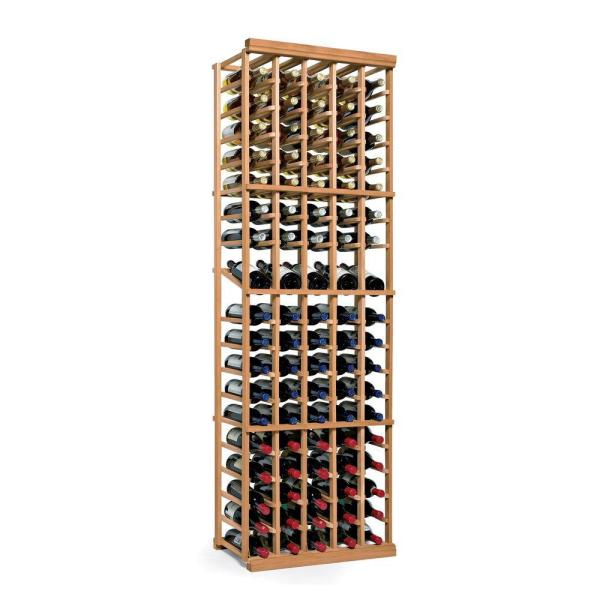 Wine Enthusiast N'Finity 90-Bottle Natural Floor Wine Rack