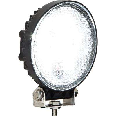 4.6 in. Round LED Clear Flood Light with Black Housing