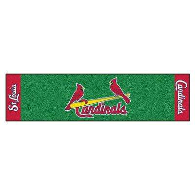 MLB St. Louis Cardinals 1 ft. 6 in. x 6 ft. Indoor 1-Hole Golf Practice Putting Green