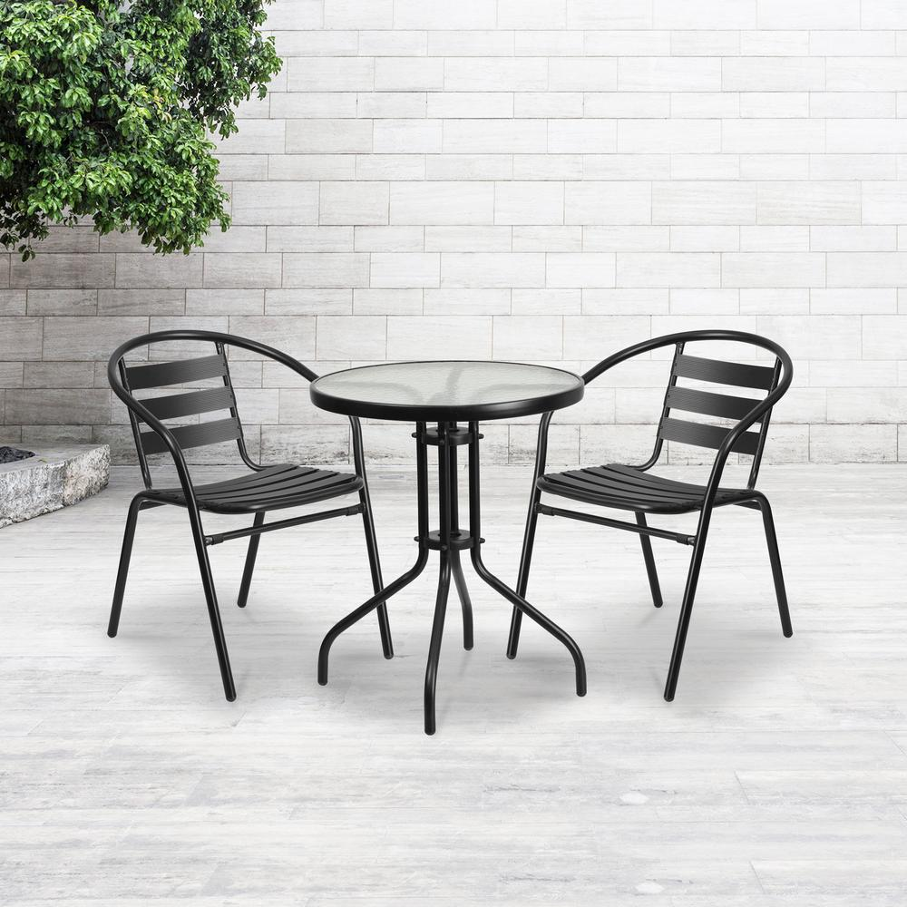 Miraculous Carnegy Avenue Metal Outdoor Dining Chair In Black Caraccident5 Cool Chair Designs And Ideas Caraccident5Info