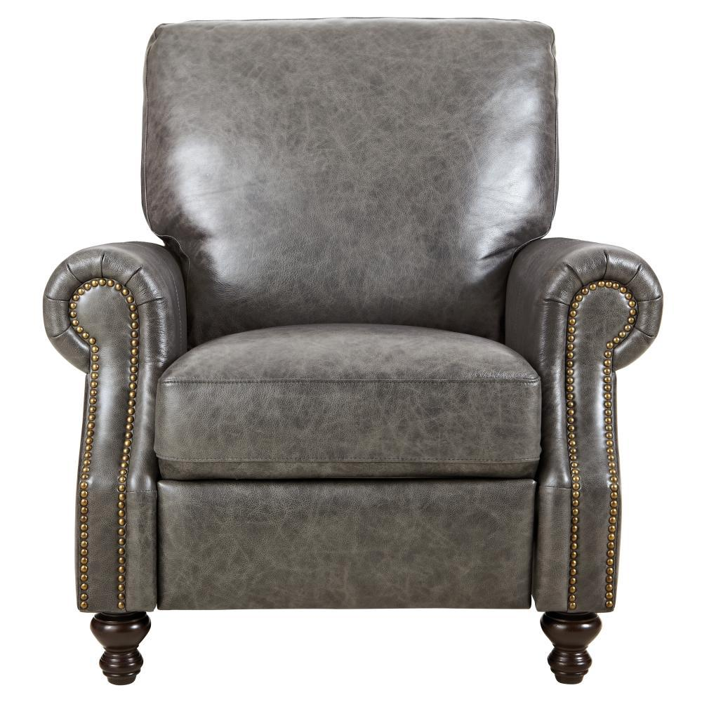 Superieur Home Decorators Collection Marco Grey Leather Recliner