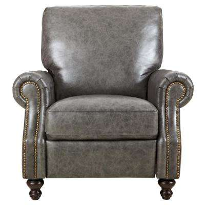 Beautiful Marco Grey Leather Recliner